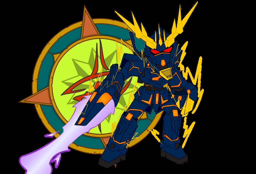 Banshee Gundam by Dragon-FangX