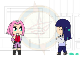 Chibi Chain - Slimed - Meeting Sakura by Dragon-FangX
