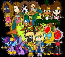 Assorted Chibis - AU Egyptian Avatars by Dragon-FangX