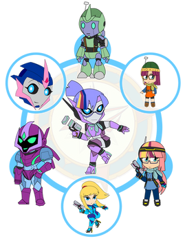 Assorted Chibis - AU Hexafusion 4