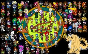 Wall of OCchibis by Dragon-FangX