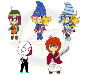 Assorted Chibis - The Magician and The Knight