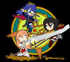 ChibiCOMBAT - Battle of Swords by Dragon-FangX