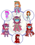 Assorted Chibis - AU Hexafusion 12