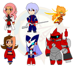 Assorted Chibis - AU Anime Robot Team