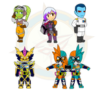Assorted Chibis - Wars and Riders