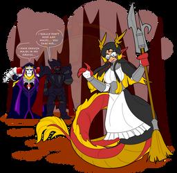 Dragon Combat Maid by Dragon-FangX