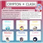 Crypton Clash - a Vocaloid design contest! (OPEN) by fedorakero