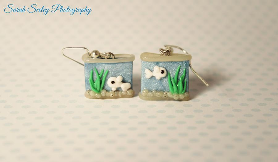 Miniature Fish Tank Earrings by CharmStop