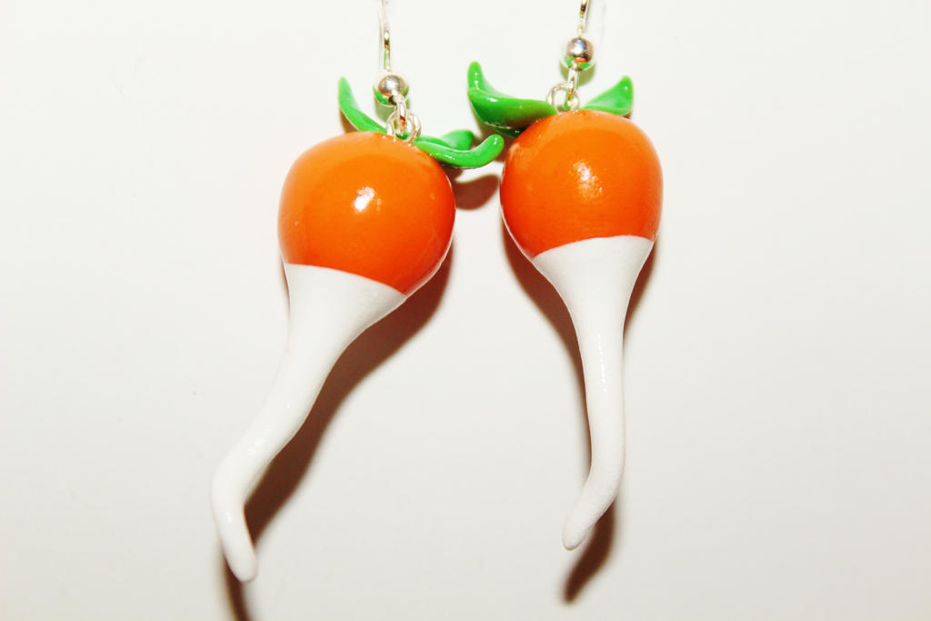 Polymer Clay Dirigible Plum Earrings by CharmStop