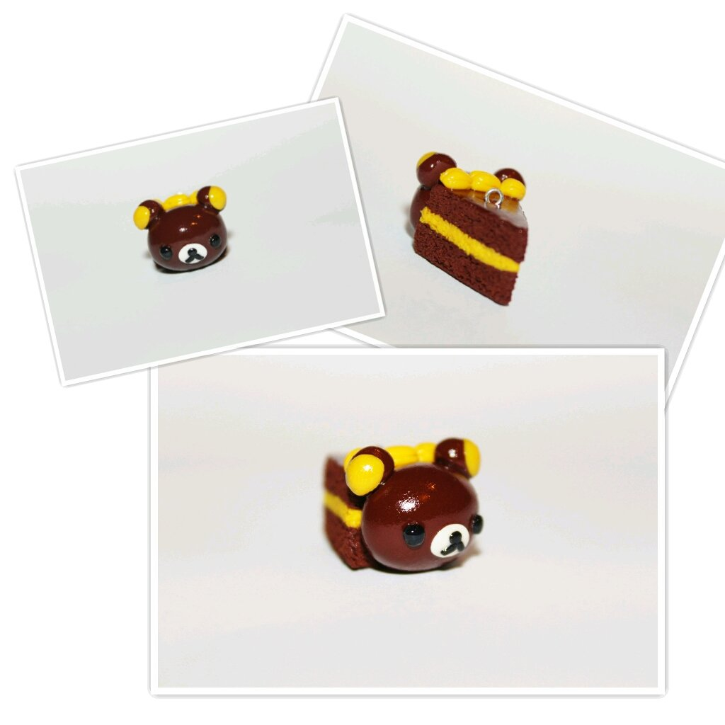 Chocolate Rilakkuma Cake Slice by CharmStop