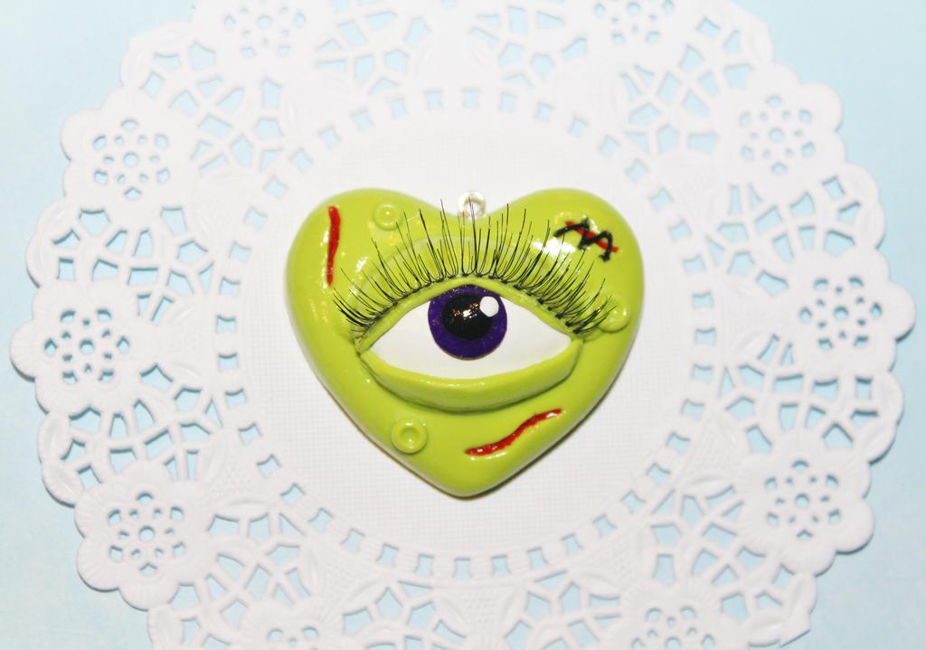 Zombie Eye Heart Pendant by CharmStop on DeviantArt