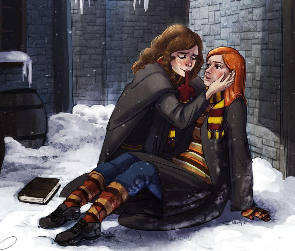 Commission: Hermione and Ginny by Gone-Batty