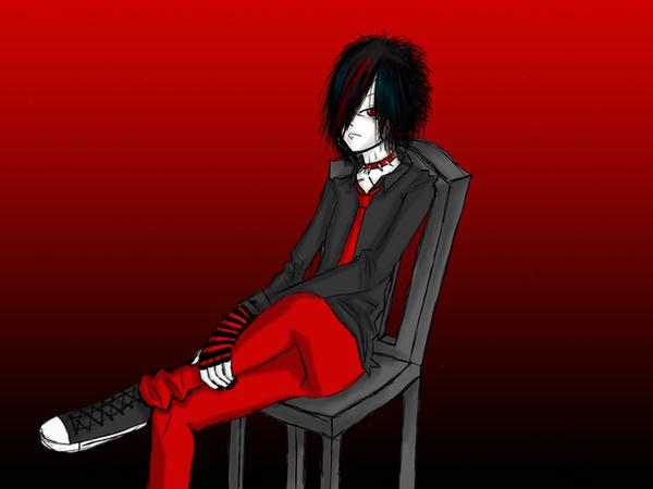 Emo boy background