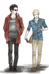 TONY AND STEVE IN COLLEGE by FISHNONES