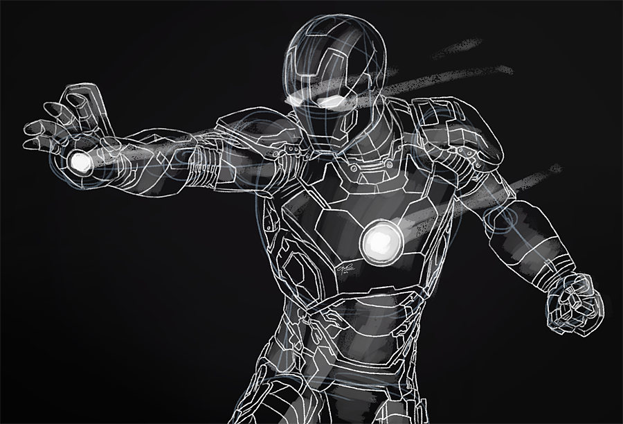 Iron Man Armor Sketch IRON MAN SKETCH by FIS...