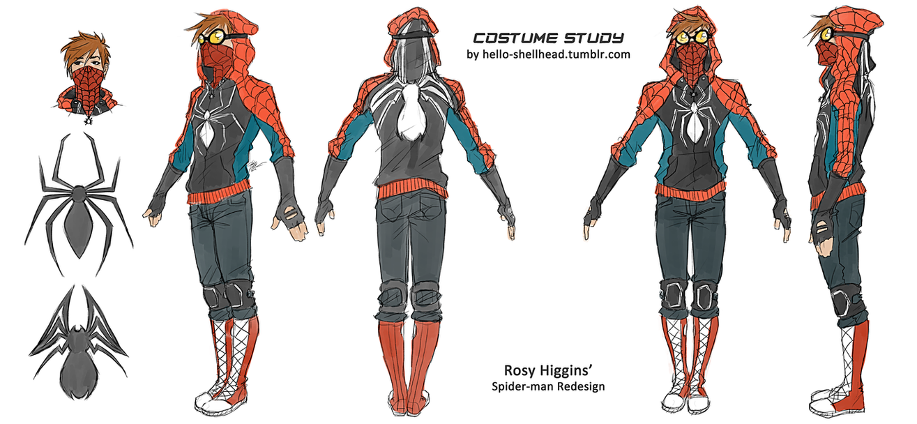 COSTUME STUDY - rosyu0027s spidey by FISHNONES ...  sc 1 st  DeviantArt : spidey costumes  - Germanpascual.Com