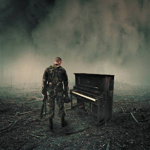 Soldier and a piano