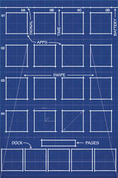 iPhone 4S Blueprint Wallpaper 5 Icon Dock