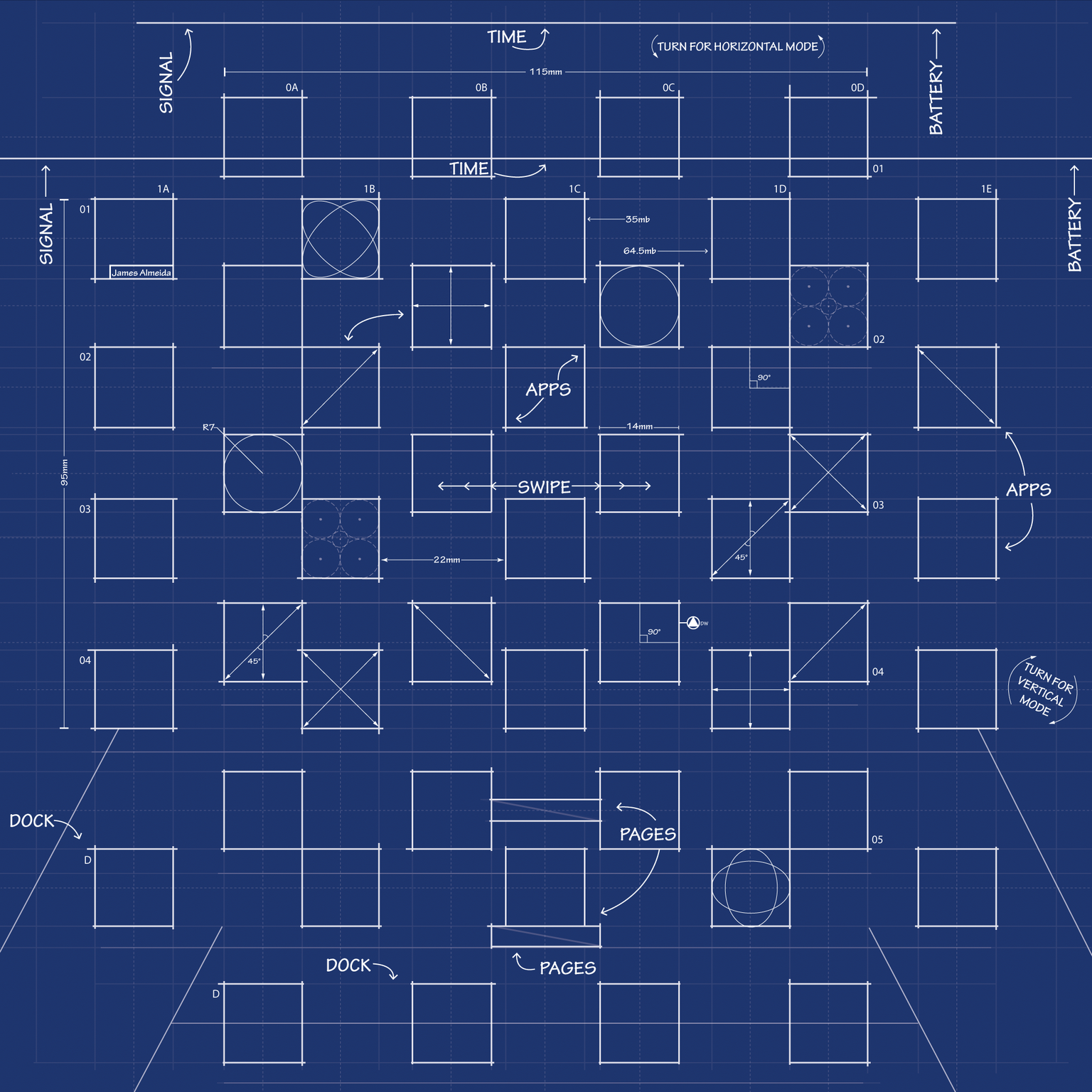 Ipad 3 Blueprint Wallpaper By Mrdude42 On Deviantart