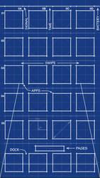 iPhone 5 Blueprint Wallpaper 640x1136 by MrDUDE42