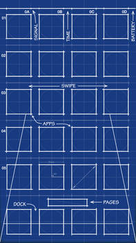 iPhone 5 Blueprint Wallpaper 640x1136