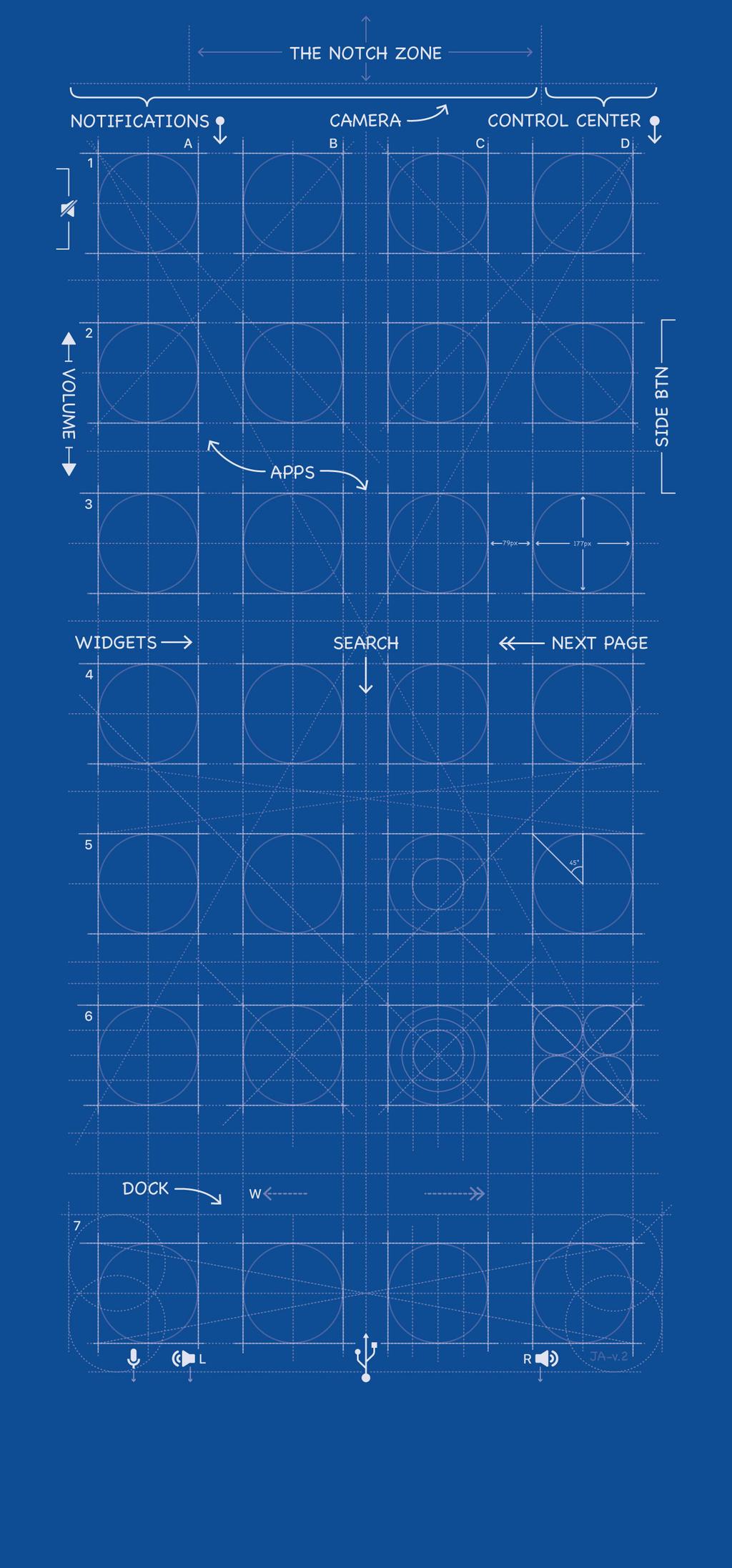 iPhone X Blueprint Wallpaper by