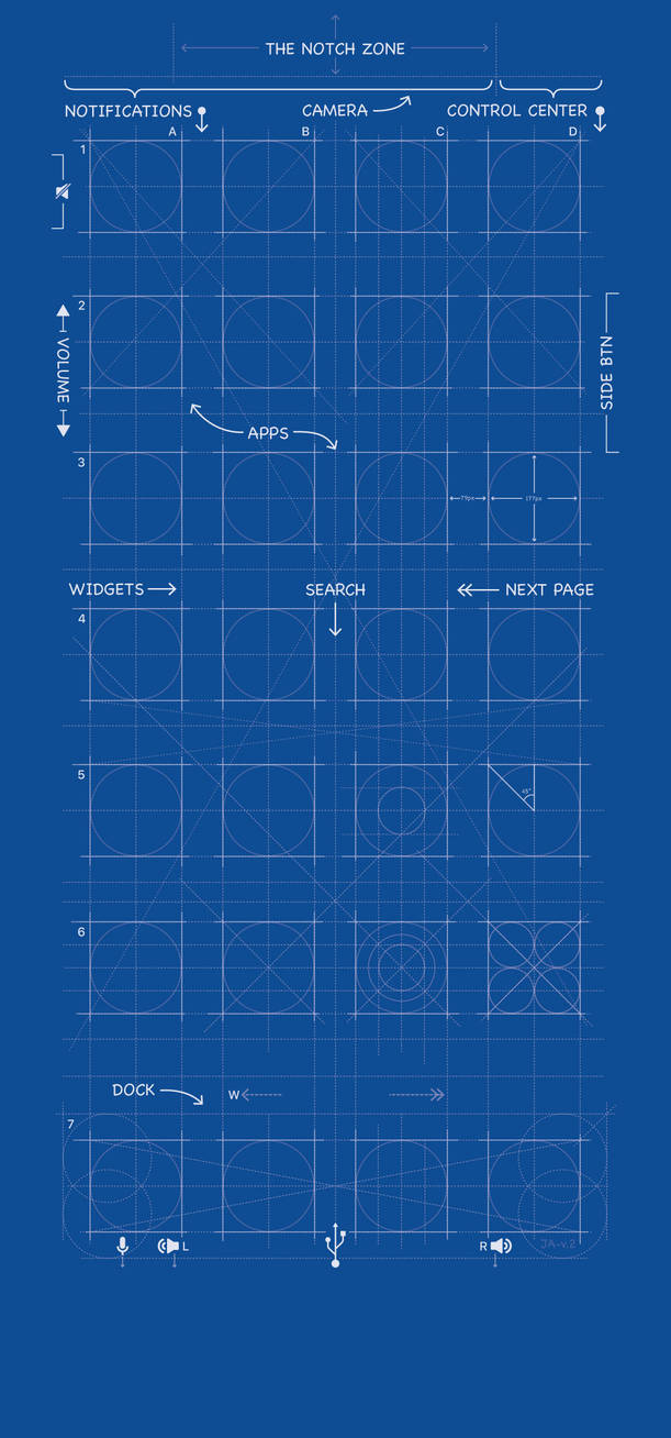 iPhone X Blueprint Wallpaper by MrDUDE42 ...
