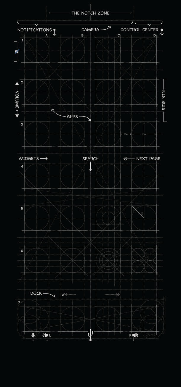 iPhone X Blueprint Wallpaper in Black by MrDUDE42 ...