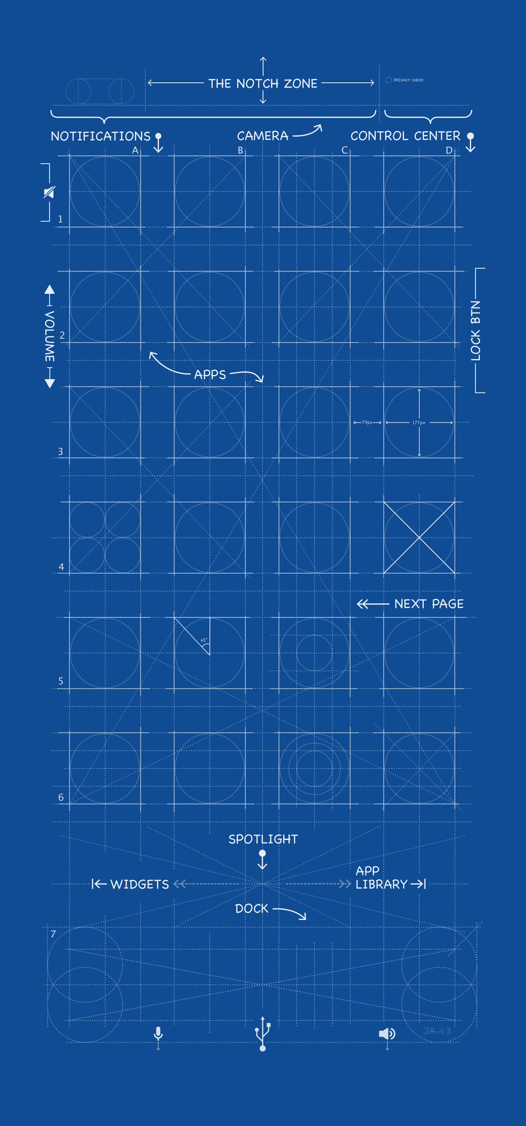 Iphone 11 Pro Max Ios14 Blueprint Wallpaper By Mrdude42 On Deviantart