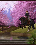 Black Horse and a Cherry Tree