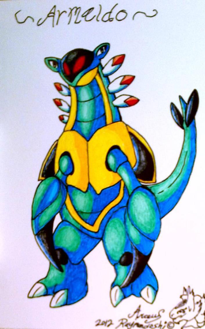 Pokemon armaldo post card drawing by iggyseymour