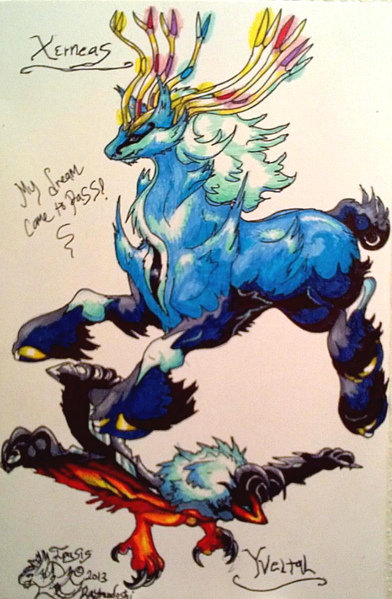 Pokemon x and y legendarys colored by iggyseymour on deviantart - Pokemon x legendaire ...
