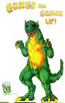 Full body draw of Gorgo 1961 Kaiju