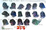 Godzilla through the years tribute render