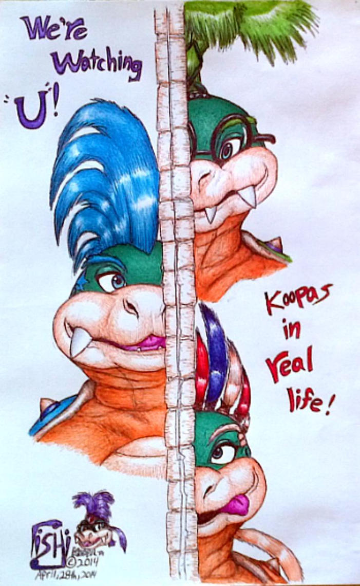 Us koopalings watching U colored by IggySeymour
