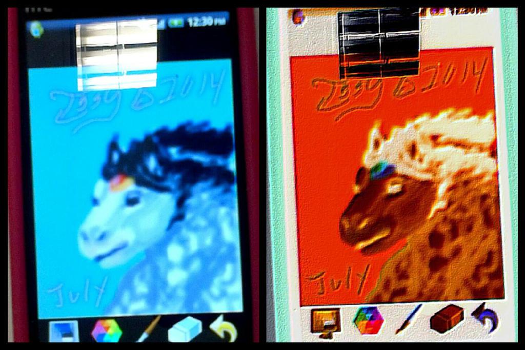Htc phone digital art practice me a KoopaHorse by IggySeymour