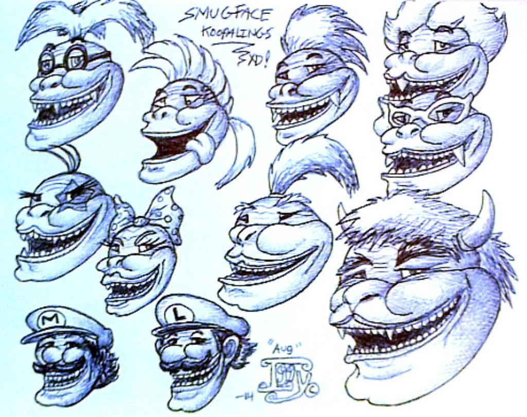 Smug faced koopalings XD by IggySeymour
