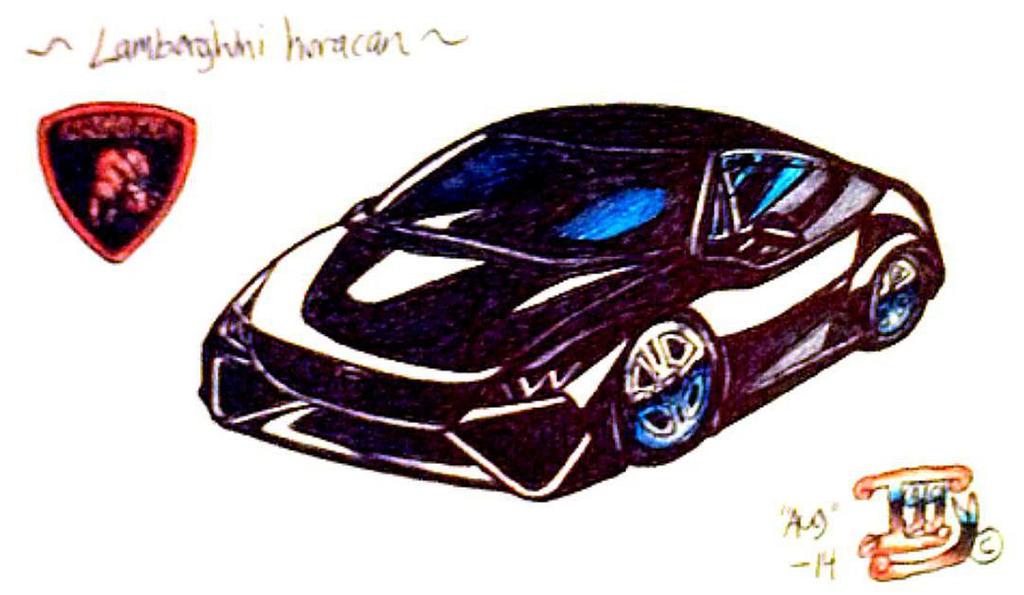 Lamborghini Haracan draw by IggySeymour