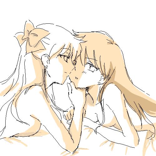 Rei x Minako Minako_and_Rei_2_by_Rhodonite