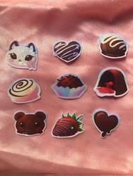 Holo chocolate stickers