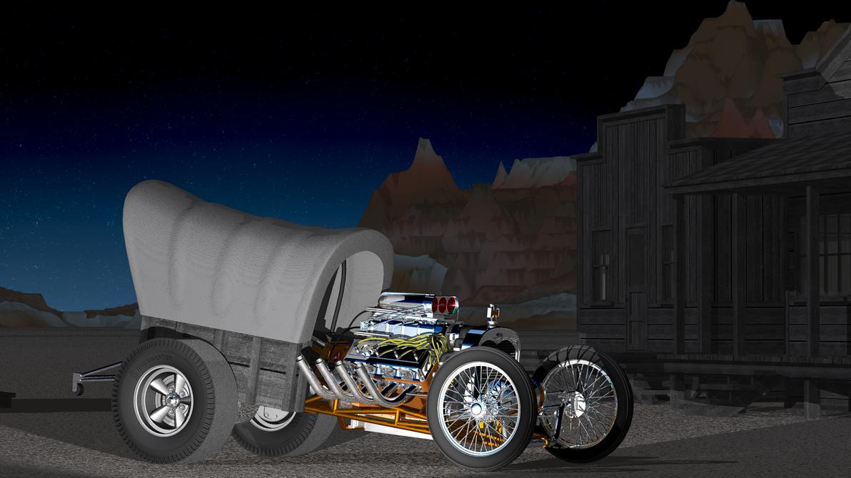 Draggin' Wagon by PukinCat