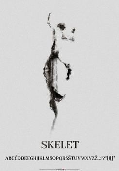 typeface SKELET poster