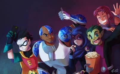 Teen Titans by NyaYukie