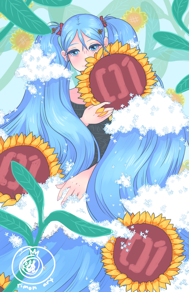 Sunflower Miku by rimonade