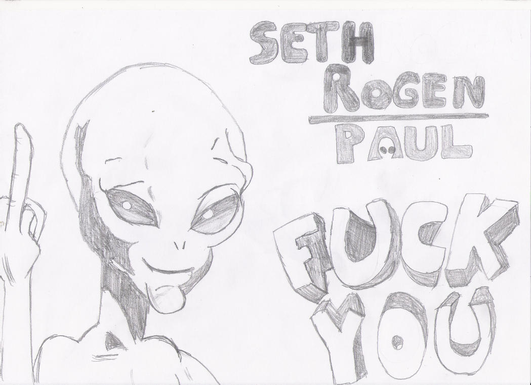paul - 'fuck you' sketchrobothellboy1114 on deviantart