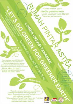 Lomba kreasi tanaman total green