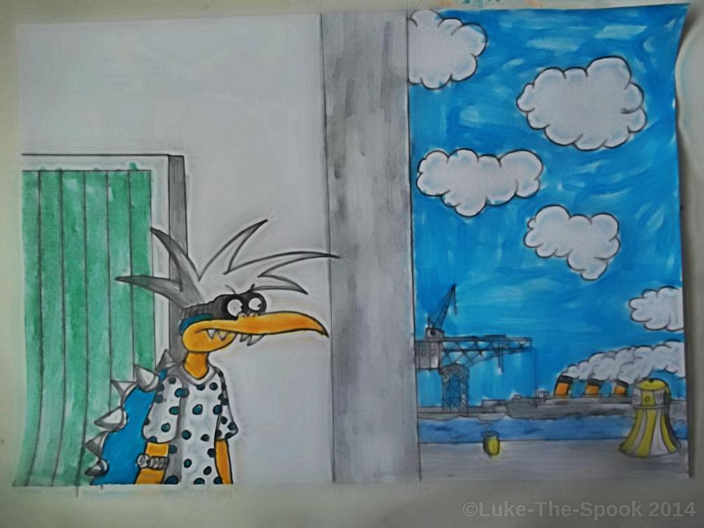 Urban Dockside Sprawl - Panel 3 by Luke-The-Spook