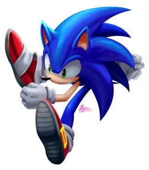 Sonic +speedpaint by Myly14
