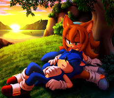Commission - Sonic And Sonar by Myly14
